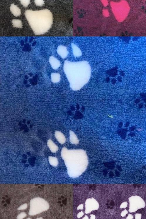 Vet Bedding Non Slip Blue Paw Offcut 1m x 50cm