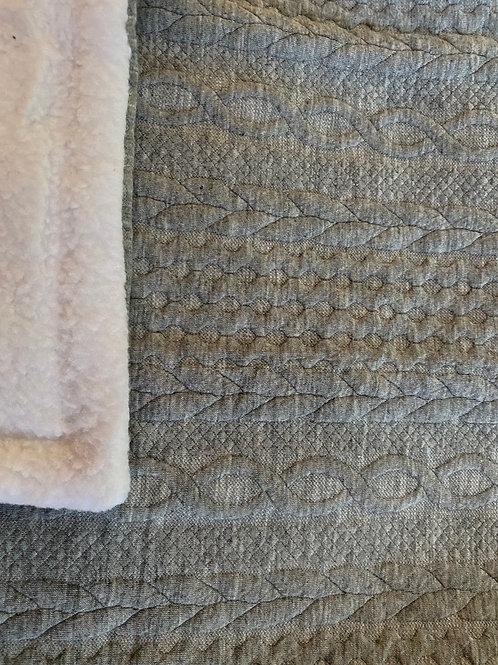 Cosy Comfort Fleece Blanket Grey XL 1m x 75cm