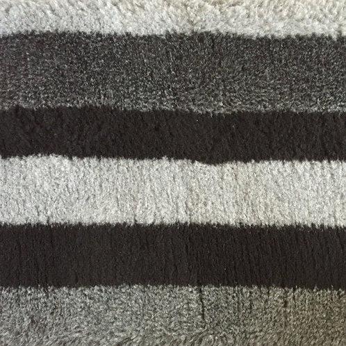 Vet Bedding Non Slip Grey Black Stripe