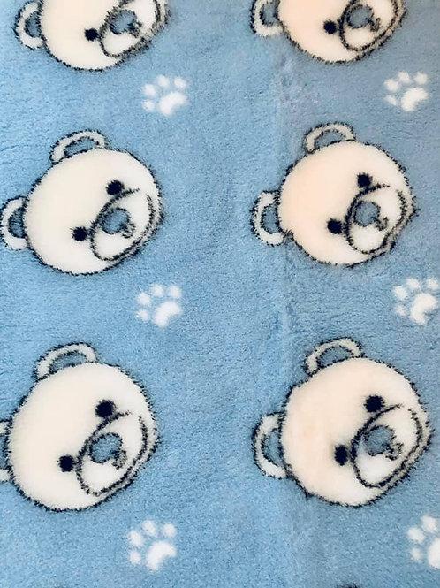 Vet Bedding Non Slip Blue Teddy