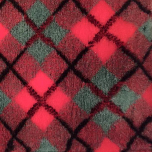 Vet Bedding Non Slip Red Green Diamond Tartan