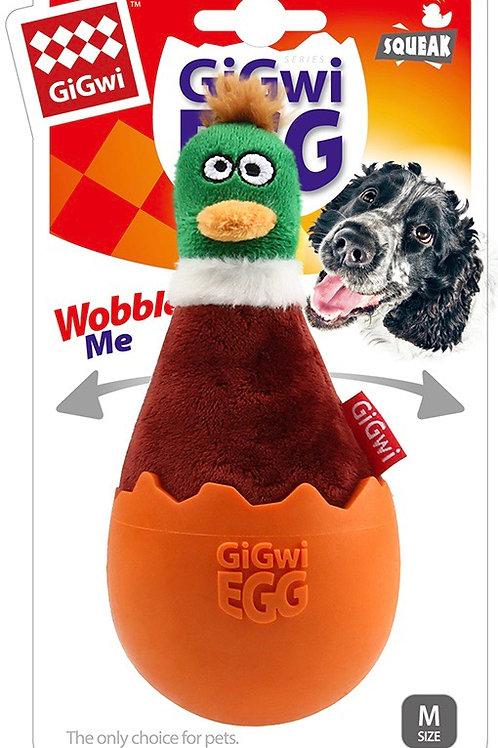 Gigwi Egg Dog Toy Duck
