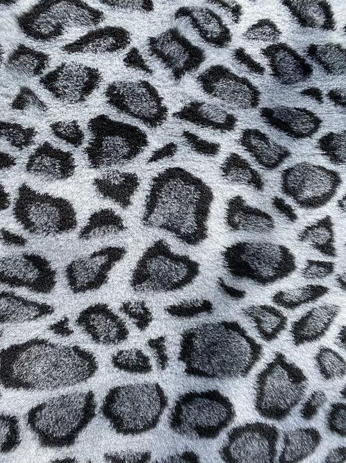 Vet Bedding Non Slip Grey Leopard