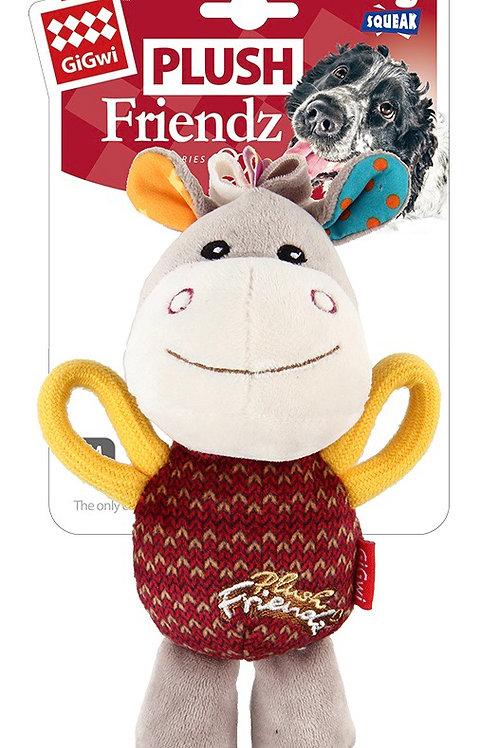Gigwi Plush Friendz Dog Toy Donkey Squeak Small/ Medium 15cm