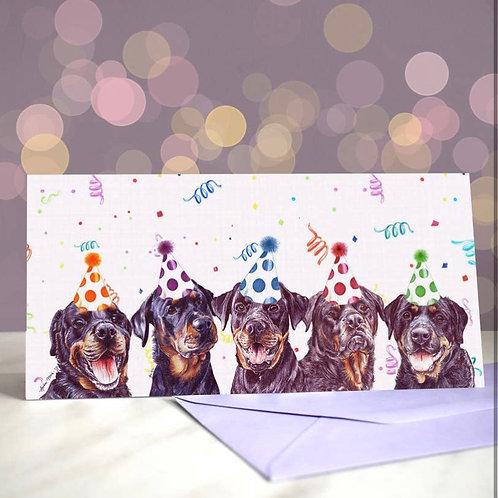 Rottweiler 'Rott the Casbah'  Greetings Card