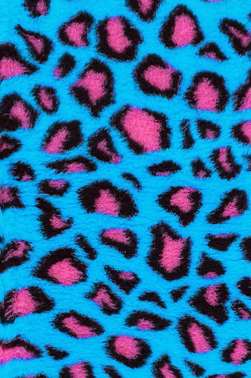 Vet Bedding Non Slip Teal Pink Leopard
