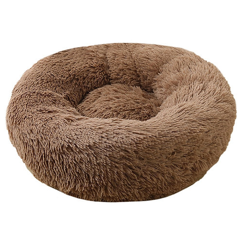 Plush Cosy Donut Bed Coffee 70cm