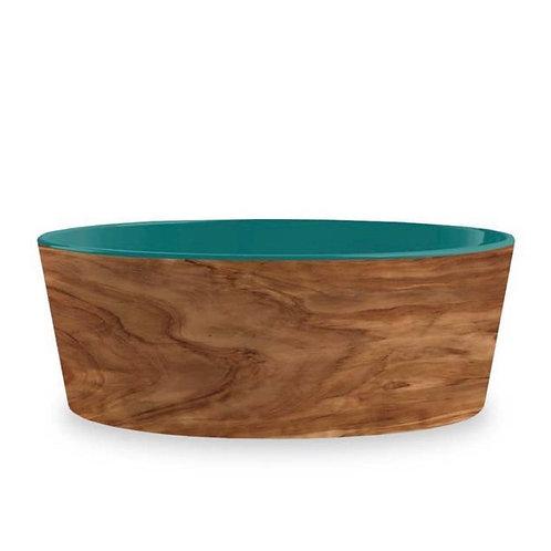 "Olive Pet Collection Medium Melamine Non Slip Teal Bowl 6"""
