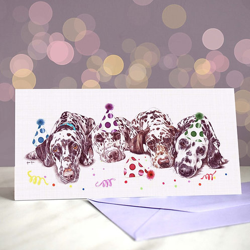 'After the Dalliance' Dalmation Greetings Card
