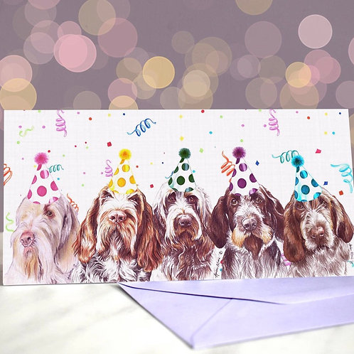 Italian Spinone 'You Spinone Me Right Round'  Greetings Card