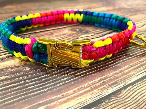 Handmade Paracord Collar Vibrant 42cm Size