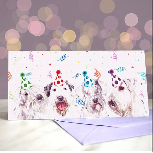 Sealyham Terrier 'Signed, Sealyed, Delivered'  Greetings Card