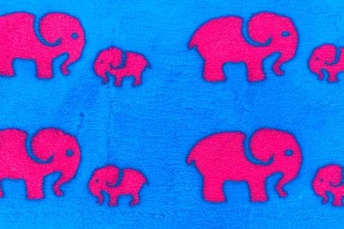 Vet Bedding Non Slip Teal Pink Elephant