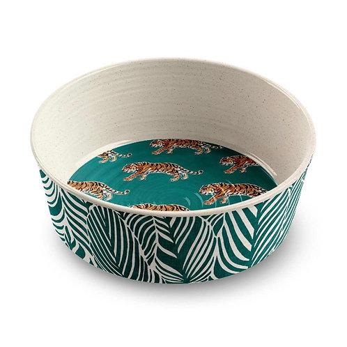 """Safari Tiger Pet Collection M/L Melamine Non Slip Bowl 6.7"""""""
