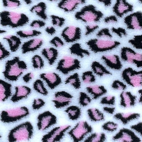 Vet Bedding Non Slip Cream Pink Leopard
