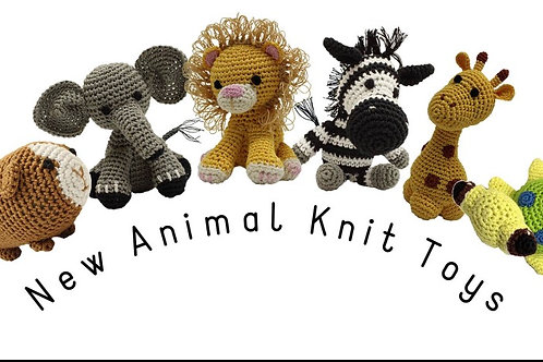 Knit Knacks Hand Knitted Organic Cotton S Dog Puppy Toy Sloth