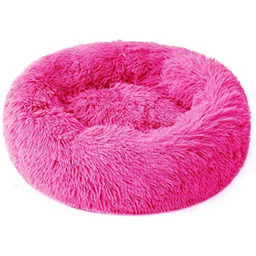 Plush Cosy Donut Bed Hot Pink 100cm