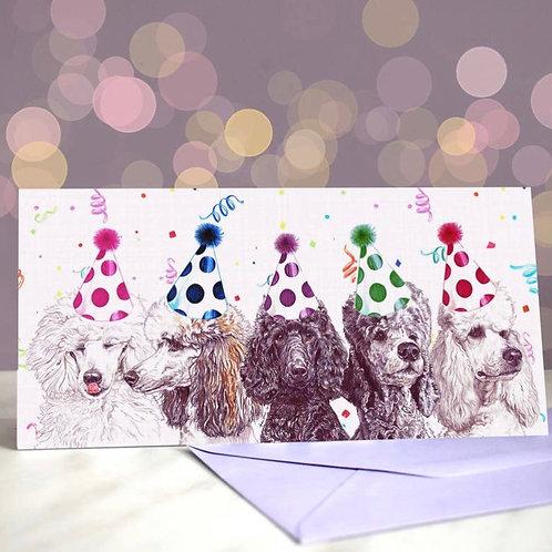 Poodle 'Spooful of Sugar'  Greetings Card