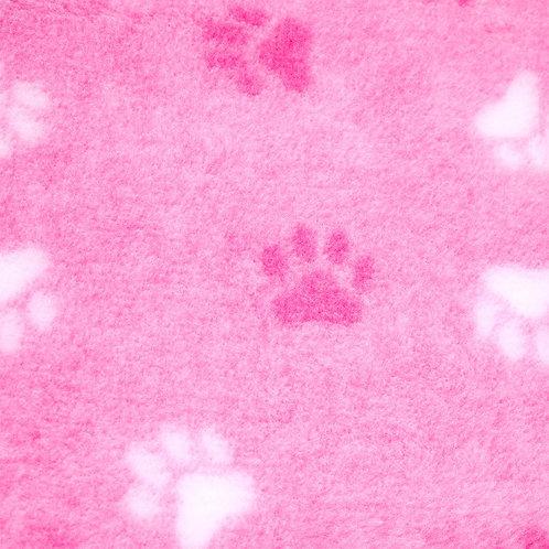 Vet Bedding Non Slip Pink Duo Paw