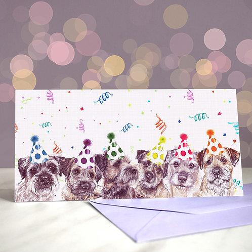 'Border be Wild' Border Terrier Greetings Card