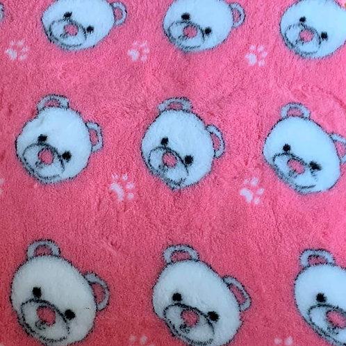 Vet Bedding Non Slip Pink Teddy