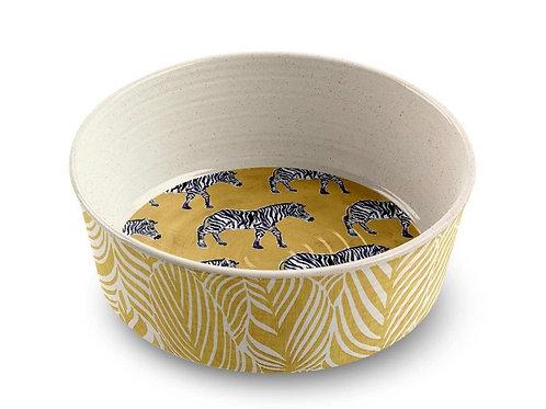 "Safari Zebra Pet Collection M/L Melamine Non Slip Bowl 6.7"""