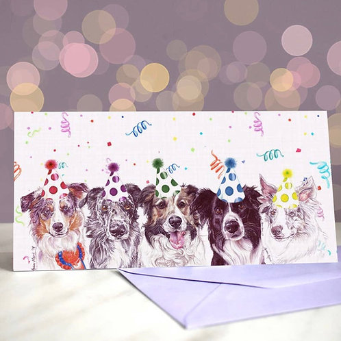 Border Collie 'So Collie Maybe?  Greetings Card