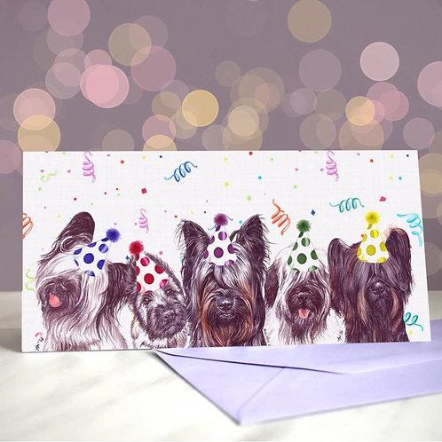 Skye Terrier  Greetings Card