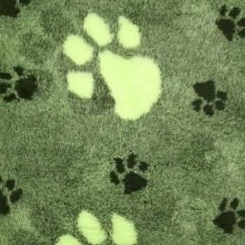 Vet Bedding Non Slip Green Large Lime Paw