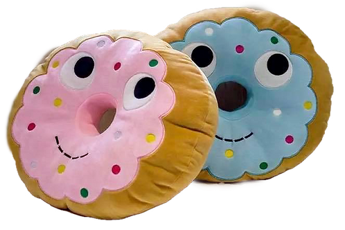 JUMBO 45cm Donut Comfort Plush Pillow Toy Ideal Puppy Comforter