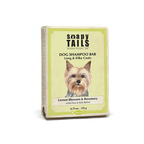 Soapy Tails Dog Shampoo Bar - Lemon Blossom - Long & Silky Coats 4.75 oz
