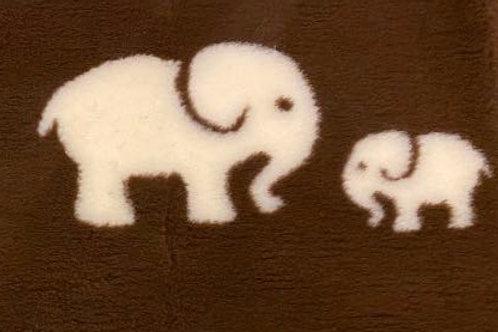 Vet Bedding Non Slip Chocolate Cream Elephant