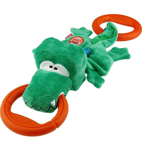 Gigwi XL Iron Grip Crocodile 55cm Dog Squeak Tug Toy