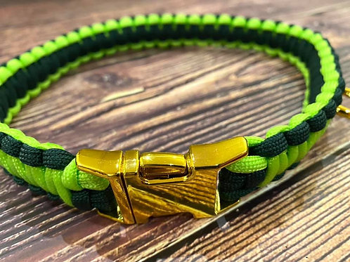 Handmade Paracord Collar Lime and Green 48cm Size