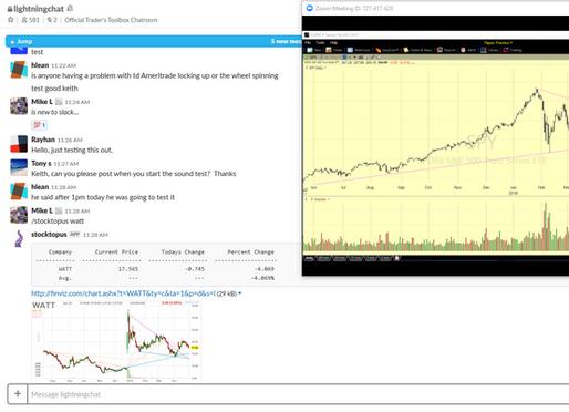 Lightnin Room Stock Trading Chatroom for Day traders