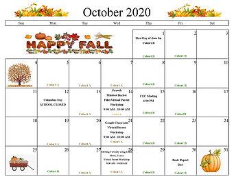 October English calendar 2020 (.jpg