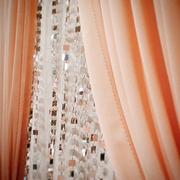 Peach and Sparkle Backdrop