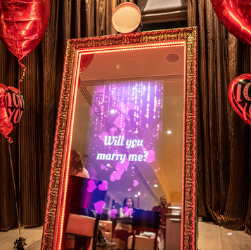 Valentine day mirror booth