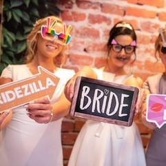 Group shots at wedding