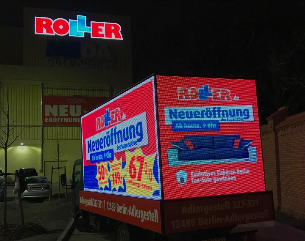 LED Werbetruck für Roller