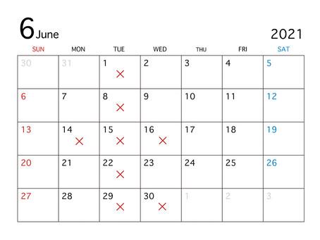 2021.6月7月のお休み