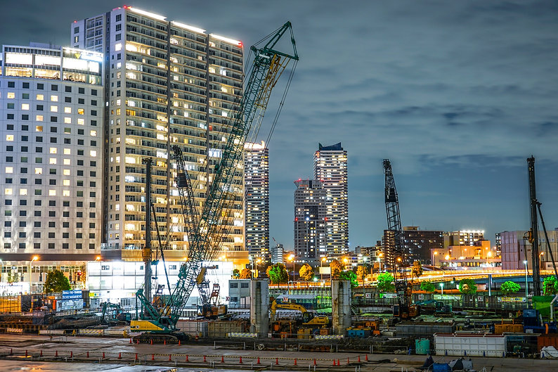 横浜の工事現場
