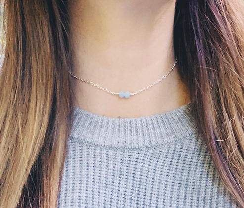 Silver Angel 'Gabriel' Choker Necklace