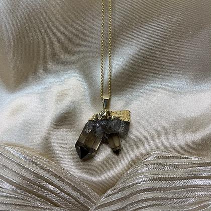 Smokey Quartz Gold Vermeil Necklace