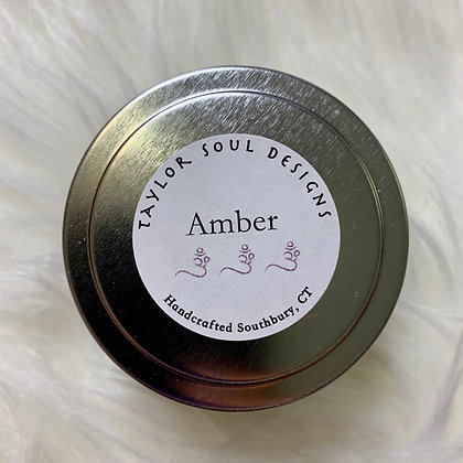 Clear and Balanced - Amber Mini Candle