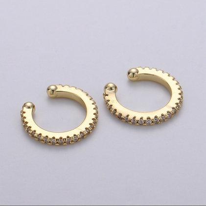 Gold Gemstone Ear Cuff or Nose Ring