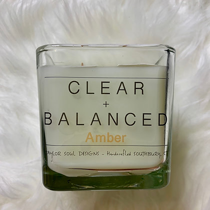 Clear and Balance - Amber Candle