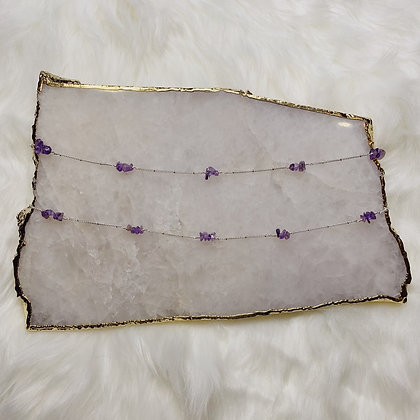 Amethyst Cluster Choker Necklace