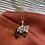 Thumbnail: Smokey Quartz Gold Vermeil Necklace