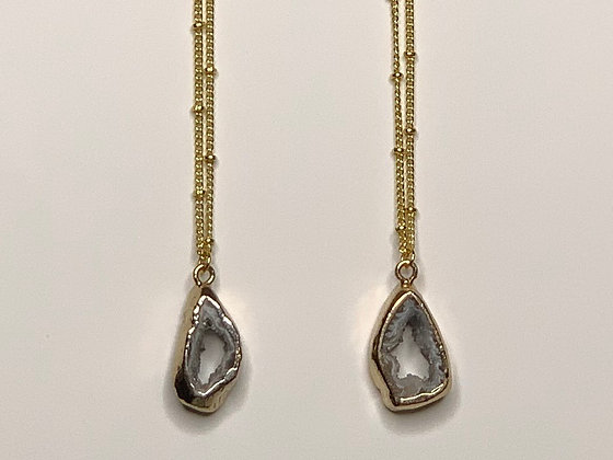 Geode Agate Crystal Necklace